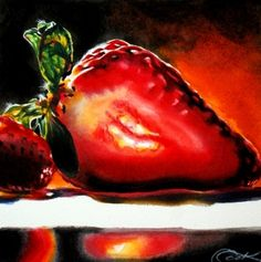 Luminous+Berries+and+Art+Life+Updates,+painting+by+artist+Crystal+Cook