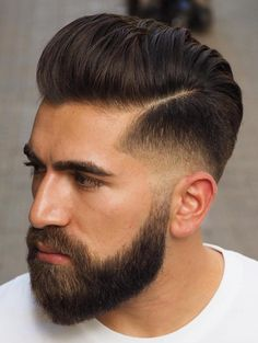 33 Mens Fade Haircuts 2019 Best Styles + Variations 33 Mens Fade Haircuts 2019 Best Styles + VariationsMens Fade haircuts have become a in the last few years and is set to sky rocket in 2019 Mens Modern Hairstyles, Mens Hairstyles With Beard, Modern Haircuts, Trending Hairstyles, Hair And Beard Styles, Hairstyles Haircuts, Cool Hairstyles, Hair Styles, Medium Hairstyles