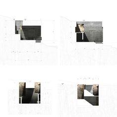 Sections Balanzategui + Loisier, Bahía de Txingudi Projects, 2013 Architecture Graphics, Chinese Architecture, Architecture Drawings, Architecture Portfolio, Architecture Details, Architecture Collage, Autocad, Section Drawing, Architectural Section