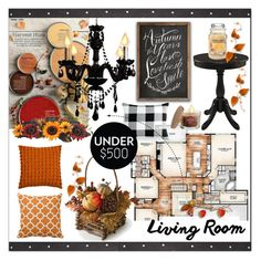 """""""Decorate a Living Room * Under $500"""" by calamity-jane-always ❤ liked on Polyvore featuring interior, interiors, interior design, home, home decor, interior decorating, Charter Club, SONOMA Goods for Life, Gallery and Rizzy Home"""