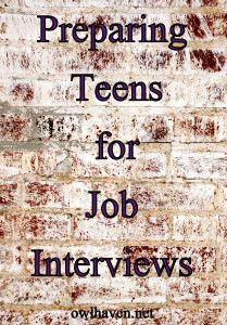 Teens and Job Interview Success