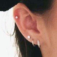 Ear Piercing Ideas For Females Madison Beer Ear Lobe, Helix/Cartilage, Upper Lobe Piercing …. Unique Piercings For Females Celebrity Ear Piercings, Female Piercings, Ear Lobe Piercings, Unique Piercings, Upper Ear Piercing, Dermal Piercing, Piercing Tattoo, Conch Earring, Bar Stud Earrings