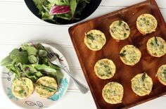 Salmon and Asparagus Mini Crustless Quiches: I wasn't sure how much coconut cream to add, so I used a spoon full. They turned out well- would make again.