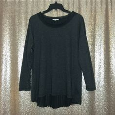 Sheer Back Long Sleeve Top Long sleeve top with wide neckline, and a pleated, sheer panel draped down the back. From Nordstrom. Worn a few times, in excellent condition!  Offer Button ONLY. NO TRADES, Ⓜ or ️️. Pleione Tops Blouses