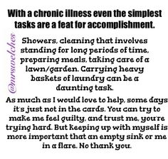 I am MrsWelches, I've been fighting for my health for the past 11 years. I create and post graphics to spread awareness. Chronic Fatigue Syndrome Diet, Chronic Fatigue Symptoms, Chronic Migraines, Chronic Illness, Chronic Pain, Fibromyalgia, Rheumatoid Arthritis, Chiari Malformation, Invisible Illness
