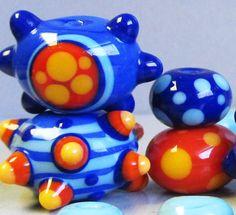 Fiesta SamplerHandmade Lampwork Beads by beadygirlbeads on Etsy, $47.00