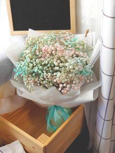 Pastel Cloud Bouquet Pastel Bouquet, Pastel Flowers, Fresh Flowers, Pastel Clouds, Baby Shower Flowers, Everlasting Love, How To Look Pretty, Plants, Flowers