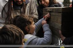 have a locked treasure chest.  The children search for keys and try to unlock the chest
