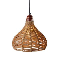 When only the most natural look will do, this Edgartown Jute Pendant is a natural choice for casual room lighting. You'll marvel at its gorgeously primitive aesthetic, with a warm brown metal fixture a...  Find the Edgartown Jute Pendant, as seen in the Vibrant Adobe Style Collection at http://dotandbo.com/collections/vibrant-adobe-style?utm_source=pinterest&utm_medium=organic&db_sku=101684