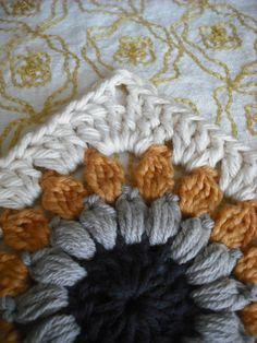 Puff Stitch Sunburst Granny Square Tutorial