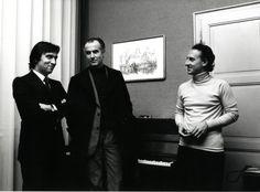 Claudio Abbado with Luigi Nono and Maurizio Pollini in 1975