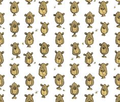 I Just Can't Bear It fabric by mulberry_tree on Spoonflower - custom fabric