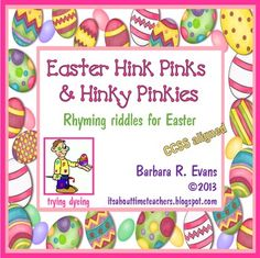 Eggs-actly what you need for spring! Easter Hink Pinks and Hinky Pinkies will have your students cracking up!