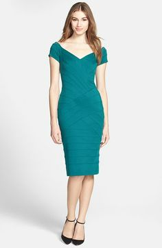 T by Tadashi Off Shoulder Bandage Dress available at #Nordstrom