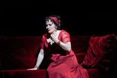 Patricia Racette as Tosca in a scene from Act II of Puccini's Tosca. photo c/o the Met