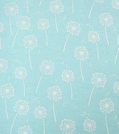 Snuggle Flannel Fabric Dandelion BlueSnuggle Flannel Fabric Dandelion Blue,
