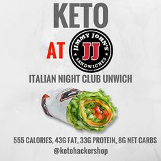 Keto at Jimmy John's. Keto tips and tricks. Healthy Fast Food Options, Fast Healthy Meals, Healthy Eating, Healthy Foods, Clean Eating, Fast Foods, Keto Restaurant, Restaurant Guide, Chili