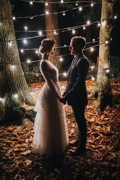 West Yorkshire wedding photographer | autumn wedding inspiration | festoon lights | Skipton | Leeds wedding photographer | Harrogate | York wedding | Fox Tail Photography | wedding lighting | bride and groom | vintage wedding dress | vintage wedding