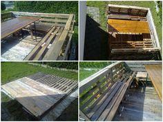 Terrace of pallets #Outdoor, #Pallets, #Reclaimed, #Table, #Terrace