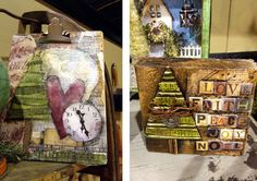 Tim Holtz CHA Summer 2012 Highlights: project samples by stephanie ackerman. scrapbook, paper crafts, crafting, art