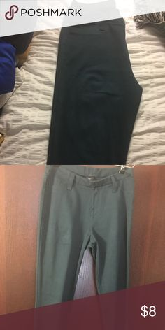 Dark emerald green jeggings Stretchy, tight, jeggings, slightly worn, green Faded Glory Pants Leggings