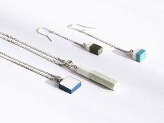 OLGA KABIE Pendants and earrings |Handcrafted Porcelain + Sterling Silver Rhodium Plated| #olgakabie