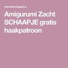 Amigurumi Zacht SCHAAPJE gratis haakpatroon