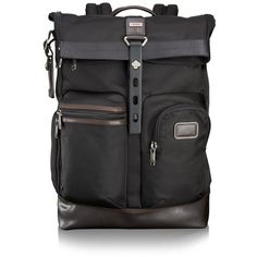 Tumi 'Alpha Bravo - Luke' Backpack ($395) ❤ liked on Polyvore featuring men's fashion, men's bags, men's backpacks, hickory and tumi