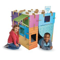 Build-Abouts Modular Fort Kit - MindWare.com Not gonna buy it but it is a great idea.