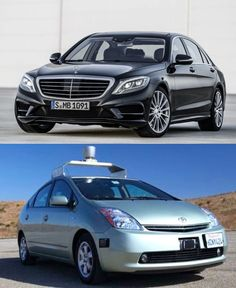 """Sorry Google, but the new Mercedes S-Klasse kicks your self-driving car's behind! Oh, it also offers """"hot-stone massages in its reclining rear seats, built in Wi-Fi and cup holders that keep drinks warm or cold...."""" http://j.mp/11PMFhZ"""