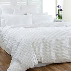 Duvet Cover Sets - Bedroomware - Briscoes - Classic Living Otto Waffle Duvet Cover Set.