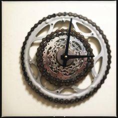 Bike part clock.