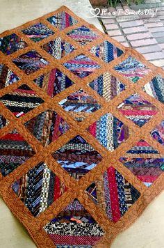 Mens Ties Crafts, Tie Crafts, Quilt Block Patterns, Quilt Blocks, Necktie Quilt, Shirt Quilts, String Quilts, Scrappy Quilts, Square Quilt