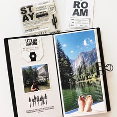 Happy Tuesday, friends!! For her birthday celebration @kerribradfordstudio put together some fun sketches for us to play with. This is my… Travel Album, Heidi Swapp, Cool Sketches, Happy Tuesday, Travelers Notebook, Birthday Celebration, Some Fun, Photo Book, Mini Albums