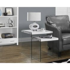 Shop for Glossy White Tempered Glass 2-piece Nesting Table Set. Get free shipping at Overstock.com - Your Online Furniture Outlet Store! Get 5% in rewards with Club O!