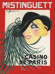 Vintage Poster - Gesman Mistinguett - Casino De Paris