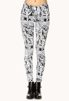 Collection featuring Forever 21 Leggings, Forever 21 Activewear Pants, and 50 other items Crazy Leggings, Best Leggings, Women's Leggings, Print Leggings, Marvel Clothes, Women's Fashion Leggings, Fandom Fashion, College Fashion, Geek Chic