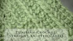 tunisian crochet stitches - YouTube