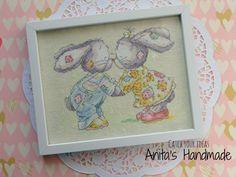 Somebunny to love Eskimo Kiss Cross Stitching - Haft krzyżykowy #haftkrzyzykowy #handmade #crossstitching #crossstitch #bunny
