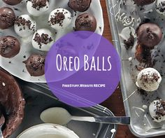 So easy to make, this 4 ingredient recipe is sure to be a hit after dinner or at your next party. 4 Ingredient Recipes, Yummy Eats, Dessert Recipes, Desserts, Free Samples, 4 Ingredients, Oreo, Food To Make, Balls