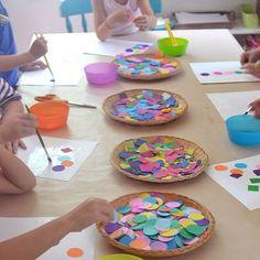 Easy Shapes Collage for kids via ArtBarBlog.