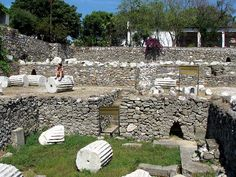 Ruins of the Mausoleum at Halicarnassus, one of the seven wonders of the ancient world.