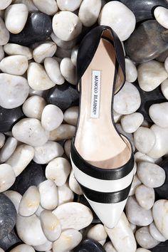 Black, white and striped! Manolo Blahnik