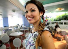 Patrícia Poeta usa uma trança rabo de peixe que faz sucesso entre as celebridades do cinema (Foto: Leonardo Viso/ Gshow)