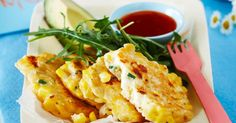 These corn fritters are quick to make and delicious to eat.