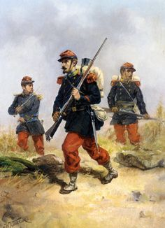 French infantry during the Franco-Prussian War