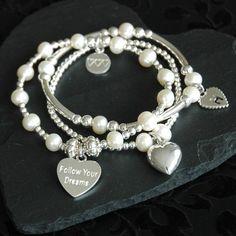 Suka Pearl & Sterling Silver Charm Bracelet