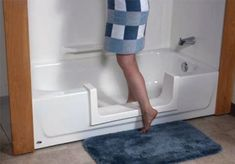 Tub cut, convert your tub into a walk-in shower. Great for patients when returning home. Ada Bathroom, Handicap Bathroom, Bathrooms, Geriatric Occupational Therapy, Adaptive Equipment, Aging In Place, Assistive Technology, Gadgets, Elderly Care
