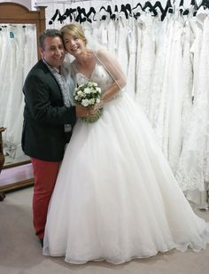 We were delighted to help Tina with her bucket list, wedding dress shopping can now be crossed off!  #FixItFriday #WeddingsByFranc #Bridal