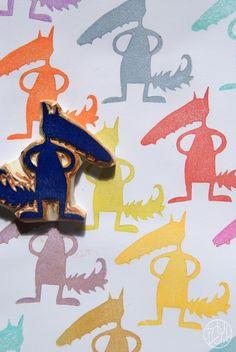 Défi gravure 35/52 - Le loup qui voulait changer de couleur (bis !)